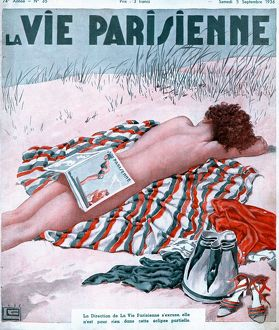 La Vie Parisienne 1936 1930s France magazines nudes naked beaches sunbathing erotica