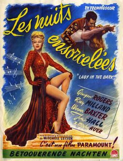 Lady In The Dark 1944 1940s France Ginger Rogers, Ray Milland musicals