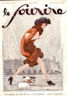 Le Sourire 1926 1920s France seasons winter raining womens magazines