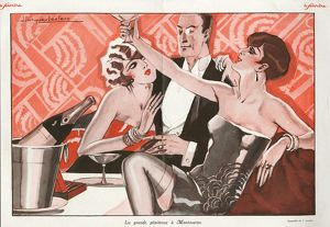Le Sourire 1927 1920s France erotica drinking champagne alcohol glamour sugar daddy