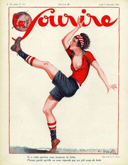 Le Sourire 1927 1920s France football soccer glamour magazines