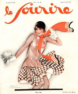 Le Sourire 1929 1920s France glamour seasons womens spring magazines springtime clothing