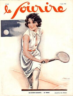 Le Sourire 1930 1930s France tennis womens magazines
