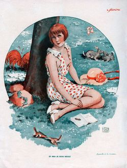 Le Sourire 1931 1930s France erotica Spring seasons illustrations