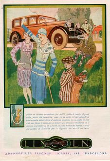 Lincoln - please note that the text is in Spanish 1928 1920s USA cc cars golf