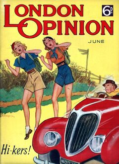 London Opinion 1930s UK hitchhiking glamour magazines cars