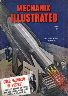 Mechanix Illustrated 1940s USA mcitnt rockets rockets visions of the future futuristic