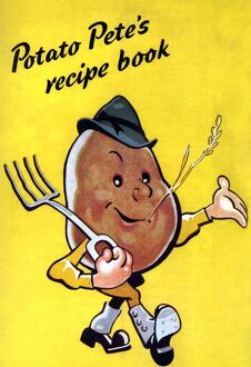 Ministry of Food 1930s UK potatoes recipes characters logos peteA•s petes