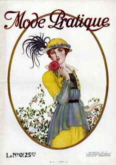 Mode Pratique 1914 1910s France womens first issue portraits magazines clothing clothes
