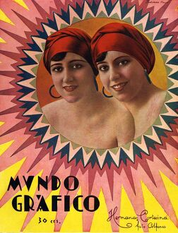 Mundo Grafico 1928 1920s Spain cc magazines sisters twins humour womens portraits