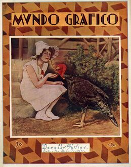 Mundo Grafico 1928 1920s Spain cc magazines feeding turkeys birds