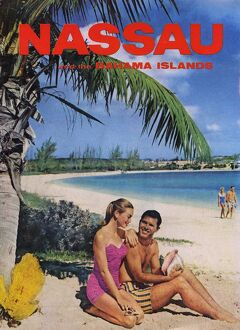 Nassau And Bahama Islands 1950s UK beaches seaside holidays sunbathing bahamas tourism