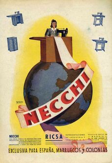 Necchi 1942 1940s Spain cc sewing machines globes