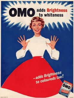 Omo 1950s UK washing powder housewives housewife products detergent