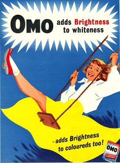 Omo 1950s UK washing powder products detergent