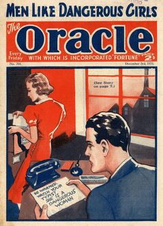 The Oracle 1938 1930s UK pulp fiction secretaries magazines secretary