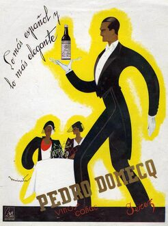 Pedro Domecq 1920s Spain cc wines alcohol waiters art deco jazz restaurants