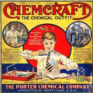 The Porter Chemical Company 1920s USA rklf Chemcraft Chemistry sets boys science itnt