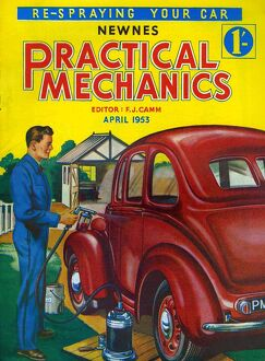 Practical Mechanics 1953 1950s UK magazines cars repairs
