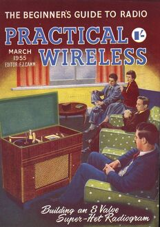 Practical Wireless 1950s UK radios listening to music diy hi-fi magazines do it yourself