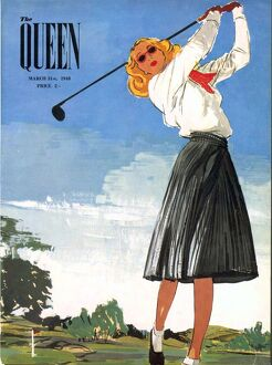 The Queen 1940s UK golf womens magazines
