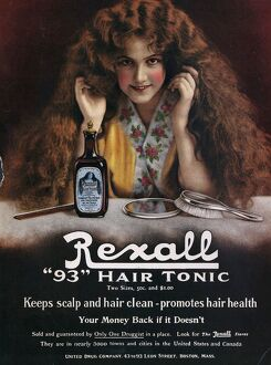 Rexall 1910s USA hair shampoo tonic