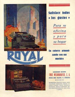Royal 1950 1950s Spain typewriters