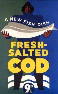 Salted-Cod 1940s UK fish salted cod