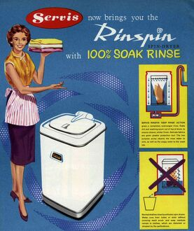 Servis 1950s UK washing machines housewives housewife kitchens woman women