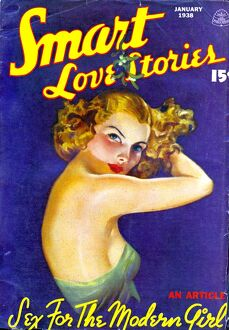 Smart Love Stories 1938 1930s USA pulp fiction magazines portraits menA•s