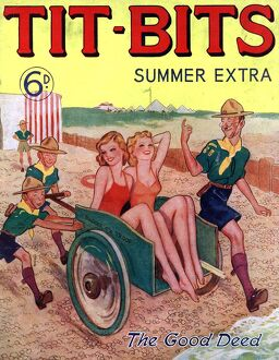 Tit-bits 1930s UK boy scouts holidays beaches magazines Original not available