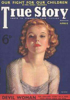 True Story 1930s USA pulp fiction magazines clothing clothes