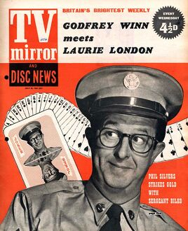 TV Mirror 1958 1950s UK Phil Silvers magazines sergeant sergeant bilko comedians