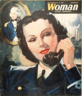 Woman 1940s UK navy women at war WW2 magazines