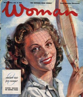 Woman 1940s UK tennis magazines