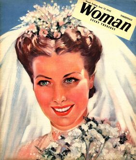 Woman 1942 1940s UK wedding weddings marriages bride brides magazines