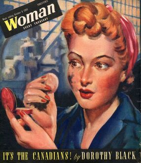 Woman 1943 1940s UK women at war factory workers factories WW2 magazines
