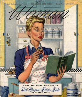 Woman 1949 1940s UK cooking recipes cookery books housewives housewife woman women