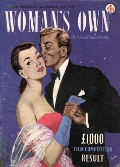 Woman's Own 1940s UK covers magazines dancing