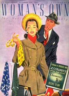 Woman's Own 1940s UK shopping ties mens magazines clothing clothes