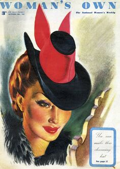 Woman's Own 1945 1940s UK womens hats portraits magazines womans