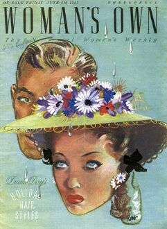 Woman's Own 1947 1940s UK womens hats magazines womans