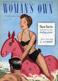 Woman's Own 1949 1940s UK holidays seaside inflatables magazines