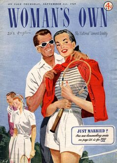 Woman's Own 1949 1940s UK tennis magazines