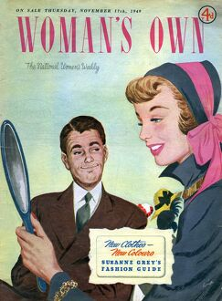 Woman's Own 1949 1940s UK womens hats magazines womans vanity shopping