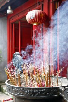 Incense sticks in Hanoi, Vietnam