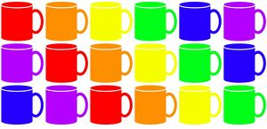Rainbow colours Coffee and Tea Mugs hot drink mug design