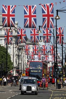 Union Jack Flags in Oxford Street, London