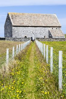 The ancient church of St Moluag in Lewis, Scotland.