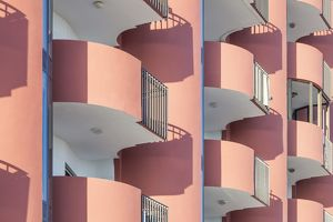 An apartment building in Calp, Spain.
